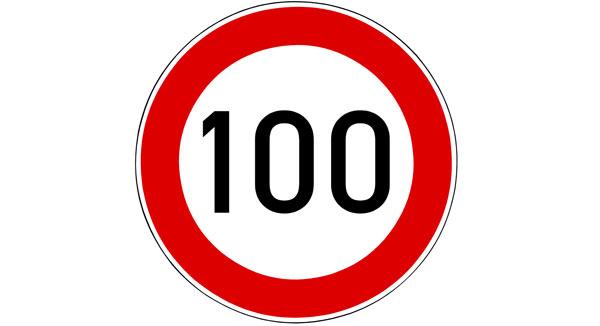 Maximumsnelheid naar 100